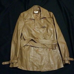 Talbot leather trench coat
